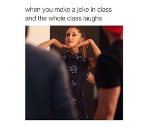 ariana grande, funny, and class image