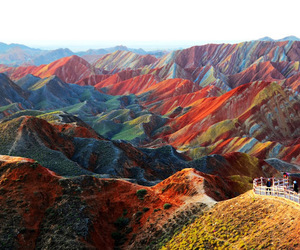 china, mountains, and nature image
