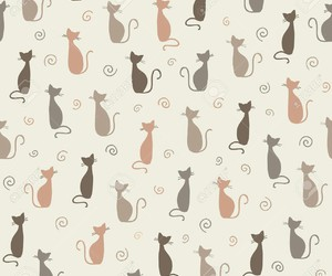 cat, wallpaper, and pattern image