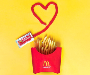 food, ketchup, and fries image