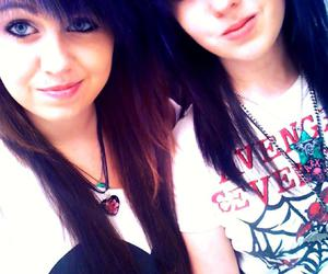 avenged sevenfold, best friends, and blue and black hair image
