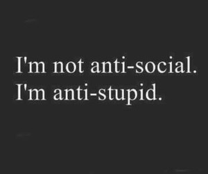 stupid, quotes, and social image