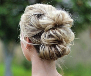 chignon and hair image