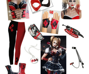 accesories, black and red, and boots image