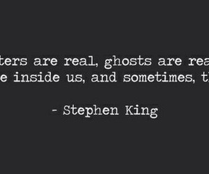 Stephen King, quote, and monsters image