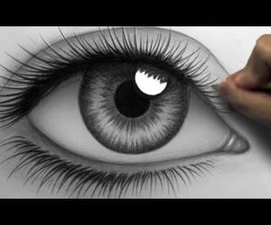 drawing, eye, and eyes image