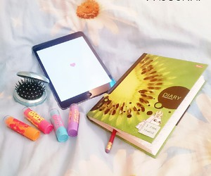 diary, weheartit, and ipad image