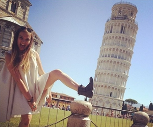 girl, italy, and Pisa image