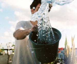 water, boy, and photography image