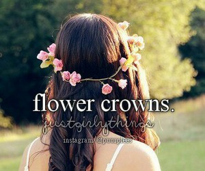 flower crown and justgirlythings image