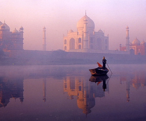 india, taj mahal, and nature image