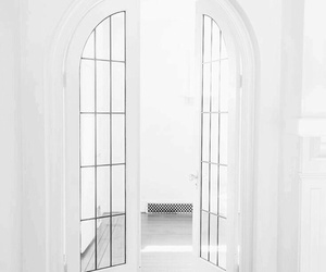 white, interior, and door image