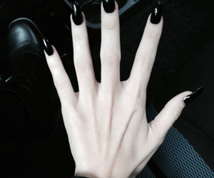 black, hand, and hands image