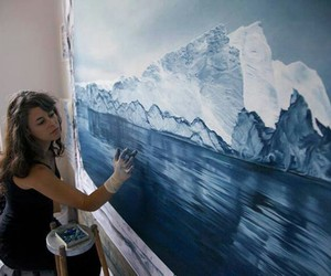 ice, paint, and painting image