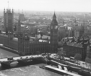 Big Ben, black and white, and london image