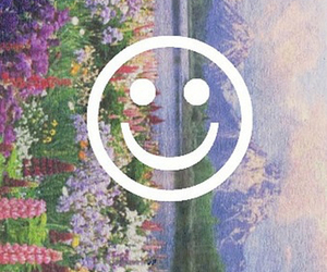 grunge, smile, and flowers image