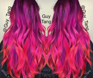 guy tang, dye job, and pink purple red hair image