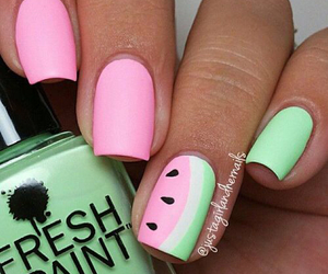 beauty, mint, and nail image