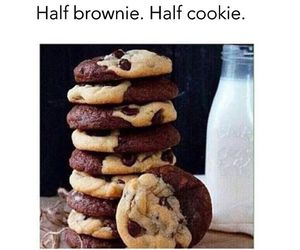 brownie, cookie, and Cookies image