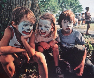 clowns, kids, and happy image