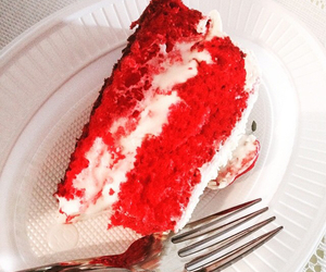 cake, red, and strawberry image