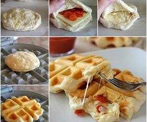 diy waffle pizza image