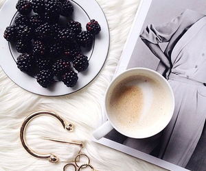 blackberry, coffee, and fashion image