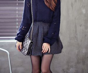 kfashion, korean fashion, and blue image