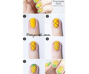 nails, diy, and pineapple image