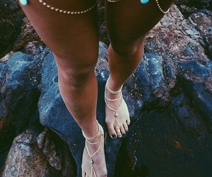 beach, chains, and pretty image