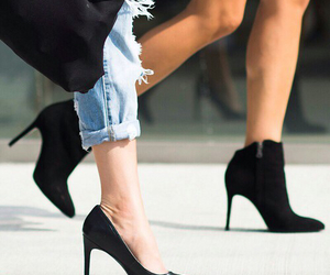 heels, black, and fashion image