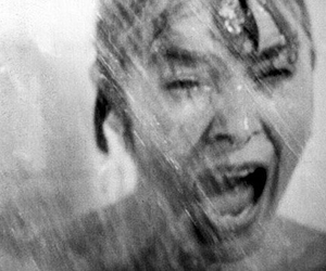 black and white and scream image