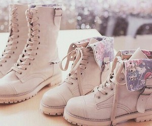 boots, pastel, and fashion image