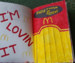 journal, McDonalds, and page image