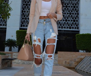 denim, jeans, and ripped jeans image