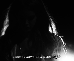 alone, friday, and quote image