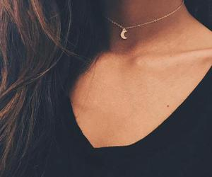 fashion, moon, and necklace image