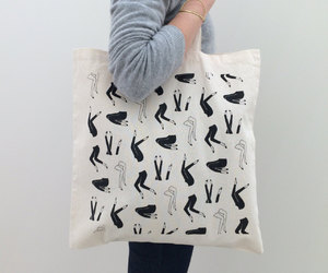etsy, canvas tote, and leggy image