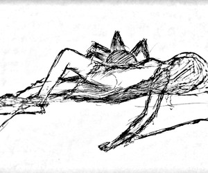 art, sketch, and black and white image