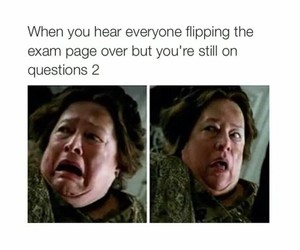 funny, exam, and school image