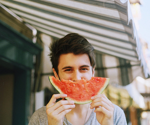 watermelon, boy, and indie image