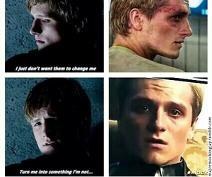 the hunger games, peeta, and mockingjay image