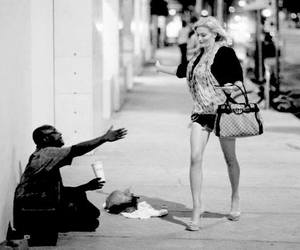 black and white, humble, and girl image