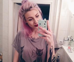 alt girl, pink hair, and alternative image
