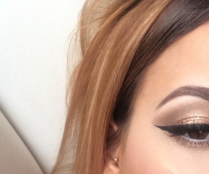 eyeliner, hair, and beauty image