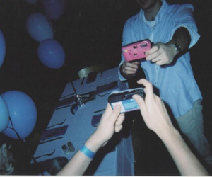 balloons, blue, and camera image