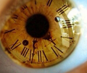clock and eye image