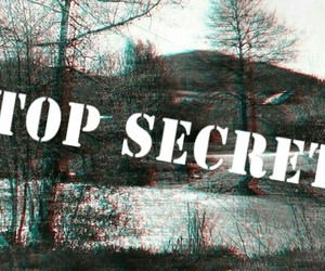 black and white, mistery, and top secret image