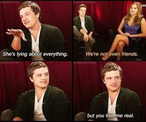 josh hutcherson, Jennifer Lawrence, and real image