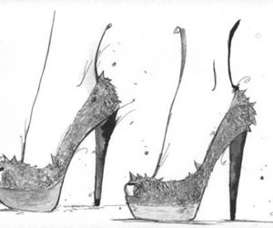 christian louboutin, louboutins, and drawing image